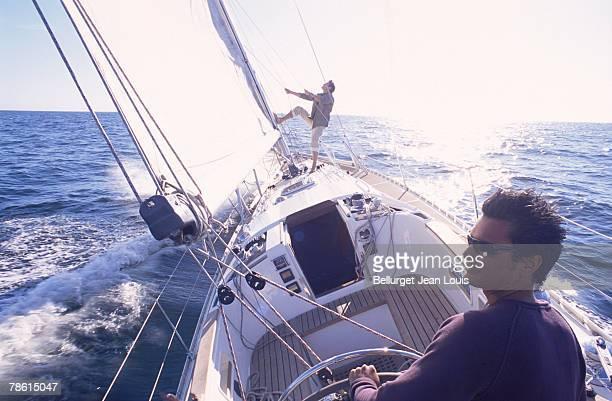 Men sailing