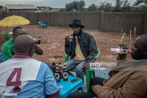 Men seen drinking beer at a bar in Nakivale refugee settlement south west Uganda Nakivale was established in 1958 and officially recognized as a...
