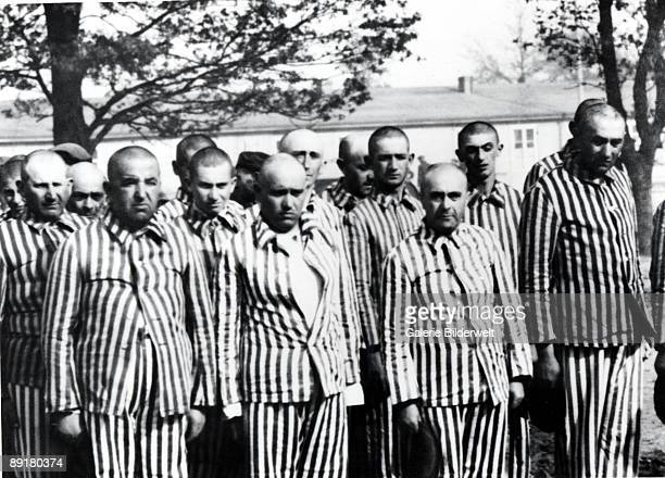 Men selected for forced labour from amongst the Hungarian Jews in AuschwitzBirkenau in Germanoccupied Poland June 1944 Between May 2nd and July 9th...
