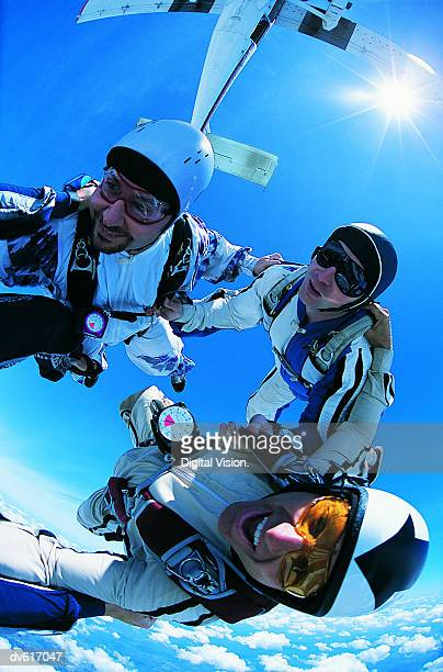 Men Skydiving