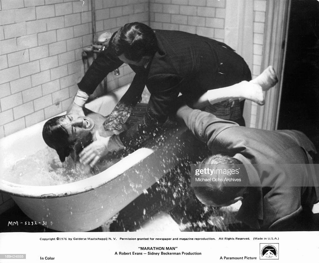 Dustin hoffman in marathon man pictures getty images men strangling dustin hoffman in the bathtub in a scene from the film marathon man thecheapjerseys Images