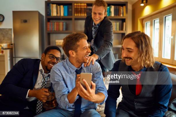 Men using a phone