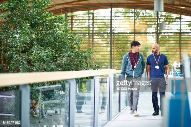 men walking in modern office. - responsible business stock photos and pictures