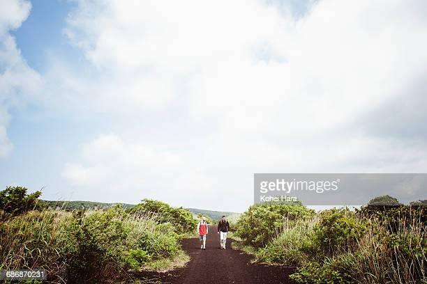 Men walking in the wilderness together