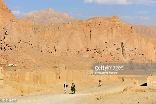 Men walking on dirt road, Afghanistan