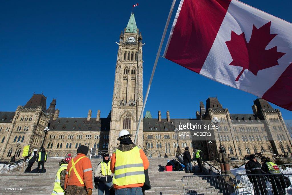 CANADA-POLITICS-PROTEST : News Photo