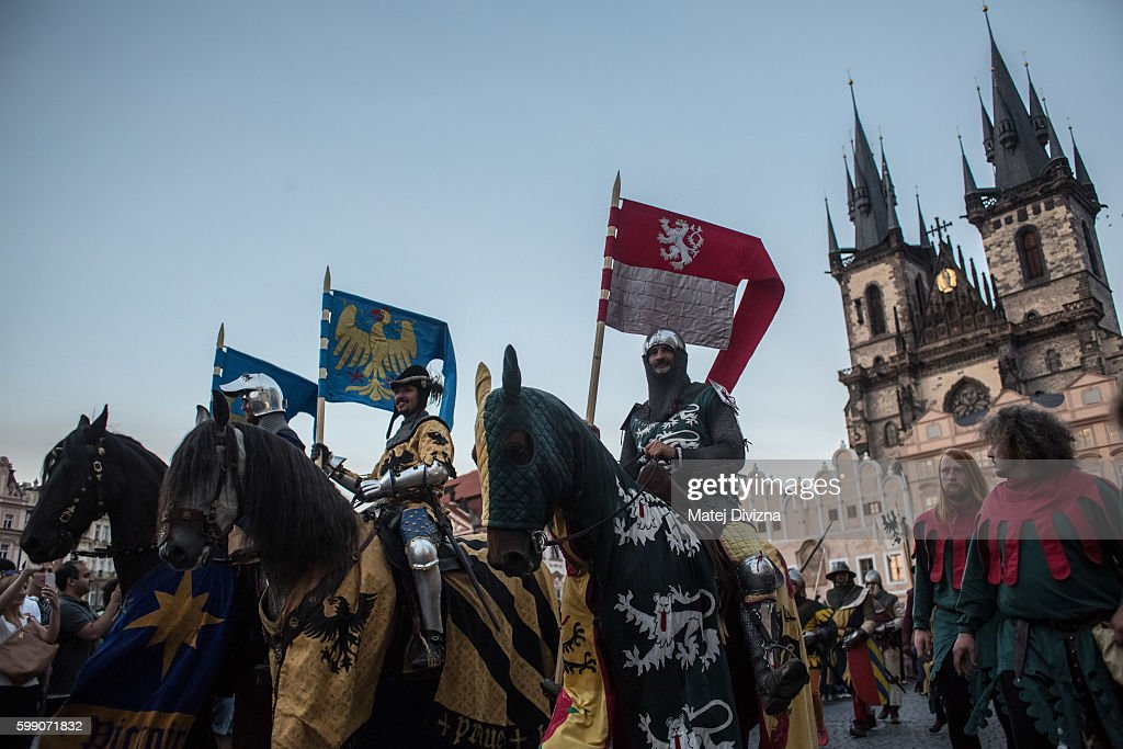 Prague Celebrates Charles IV Coronation Anniversary : News Photo