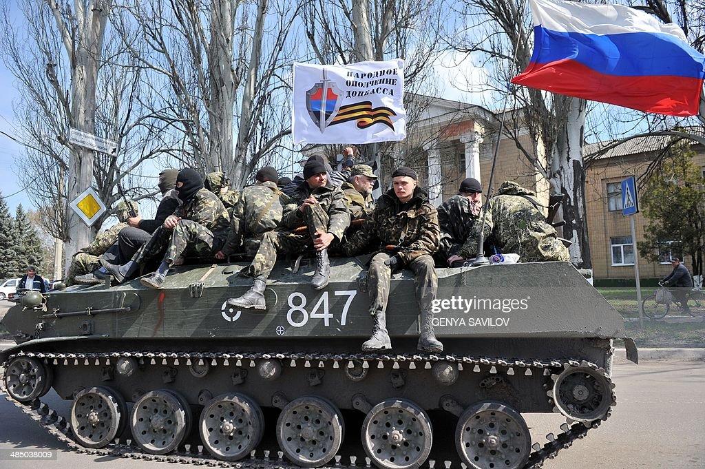 UKRAINE-RUSSIA-CRISIS-POLITICS-SLAVYANSK : News Photo