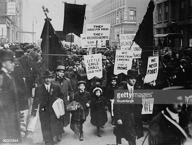 Men Women ChildrenStrike against High rents for tenements supplied by Fabric Mill Owners particularly the American woolen company Other Independently...