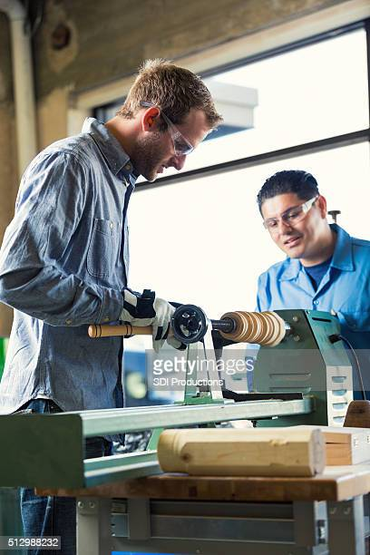 Men work on custom order in workshop