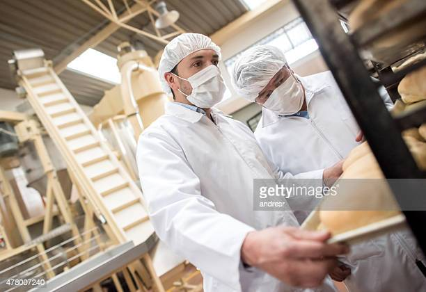 Men working at a bakery