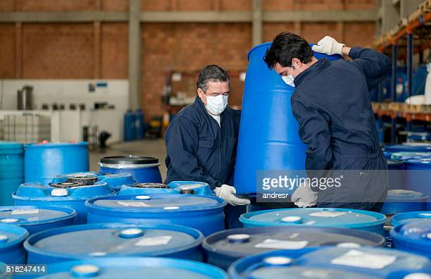 men working at a chemical plant - toxin stock pictures, royalty-free photos & images