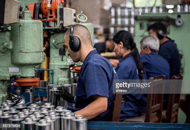 Men working at a factory