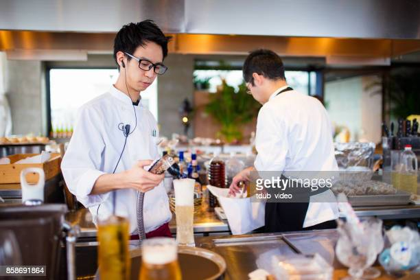 Men working at a restaurant