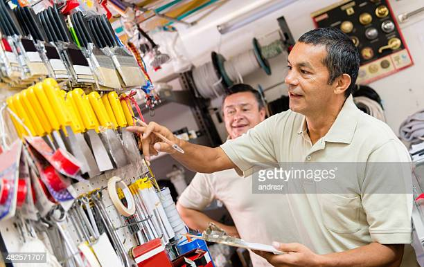 Men working at the hardware store