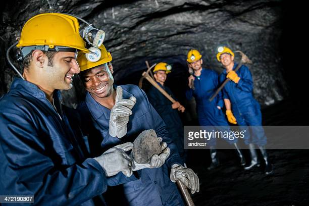 Men working at the mine