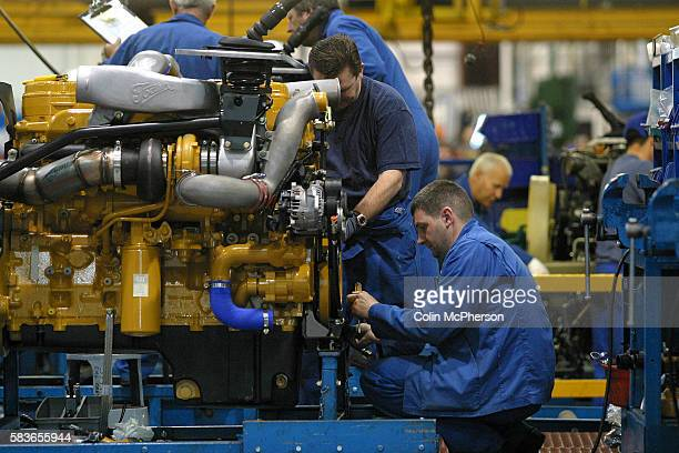 Men working on the assembly line at Leyland Trucks factory at Leyland in Lancashire The factory retained the name of Leyland which was once Britain's...