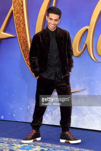 Mena Massoud attends the Aladdin European Gala at Odeon Luxe Leicester Square on May 09 2019 in London England