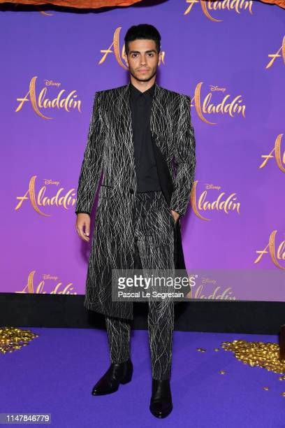 Mena Massoud attends the Aladdin gala screening at Le Grand Rex on May 08 2019 in Paris France