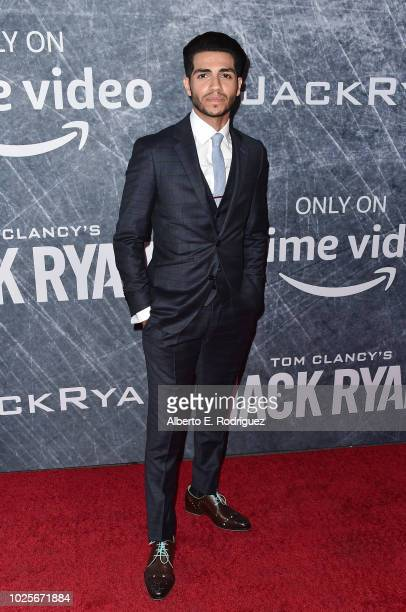 Mena Massoud attends the premiere of Amazon Prime's of Tom Clancy's Jack Ryan at the Battleship Iowa on August 31 2018 in San Pedro California