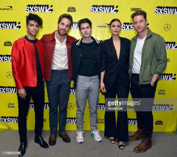 Mena Massoud Ben Platt Ricky Tollman Nina Dobrev and Scott Speedman attend Run This Town Premiere during the 2019 SXSW Conference and Festivals at...