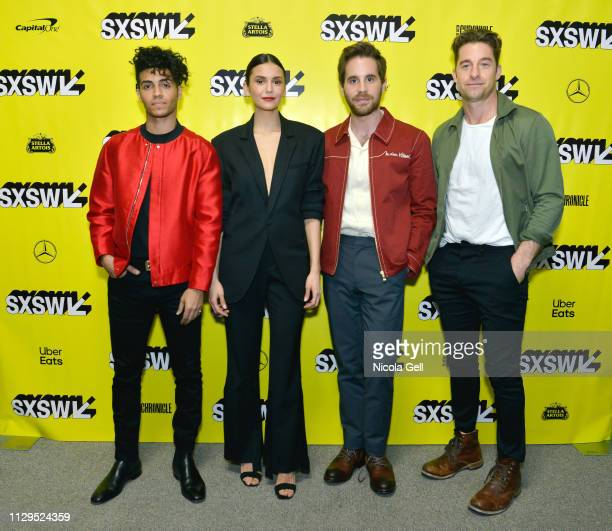 Mena Massoud Nina Dobrev Ben Platt and Scott Speedman attend Run This Town Premiere during the 2019 SXSW Conference and Festivals at Stateside...