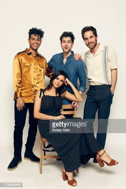 Mena Massoud Nina Dobrev Ricky Tollman and Ben Platt of the film 'Run This Town' pose for a portrait in the 2019 SXSW Film Festival Portrait Studio...