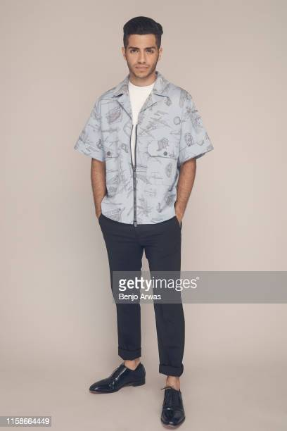 Mena Massoud of Hulu's 'Reprisal' poses for a portrait during the 2019 Summer TCA Portrait Studio at The Beverly Hilton Hotel on July 26 2019 in...