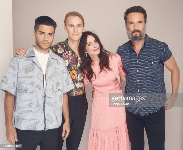Mena Massoud Rhys Wakefield Abigail Spencer and Rodrigo Santoro of Hulu's 'Reprisal' pose for a portrait during the 2019 Summer TCA Portrait Studio...