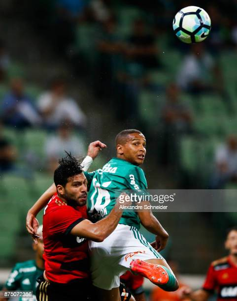 Mena of Sport Recife and Deyverson of Palmeiras in action during the match between Palmeiras and Sport Recife for the Brasileirao Series A 2017 at...
