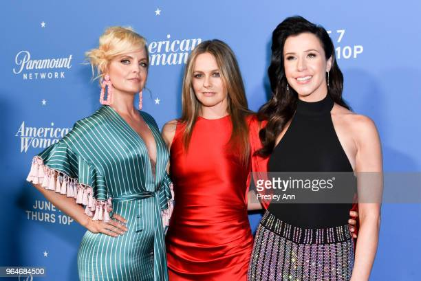 Mena Suvari Alicia Silverstone and Jennifer Bartels attend Premiere Of Paramount Network's American Woman Arrivals at Chateau Marmont on May 31 2018...