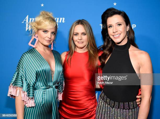 Mena Suvari Alicia Silverstone and Jennifer Bartels attend the American Woman premiere party at Chateau Marmont on May 31 2018 in Los Angeles...
