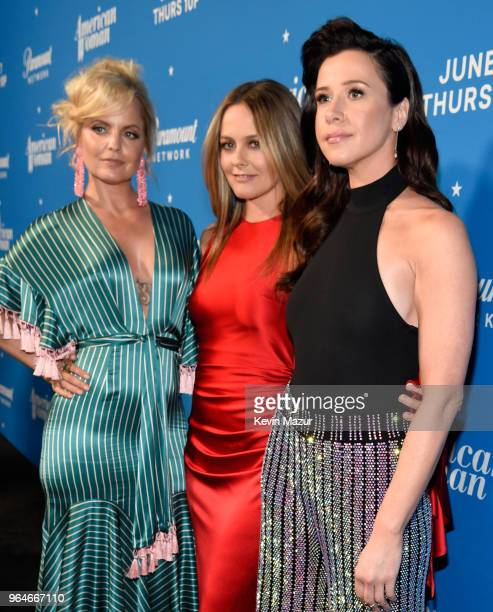 Mena Suvari Alicia Silverstone and Jennifer Bartels attend the 'American Woman' premiere party at Chateau Marmont on May 31 2018 in Los Angeles...