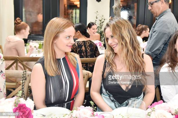 Mena Suvari and Alicia Silverstone attend Lynn Hirschberg Celebrates W Magazine's It Girls With Dior at AOC on January 6 2018 in Los Angeles...