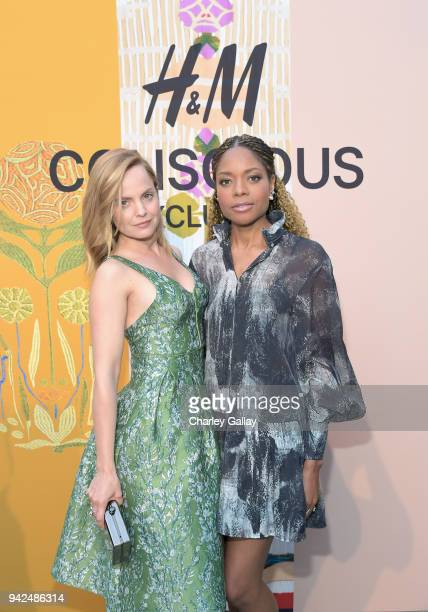 Mena Suvari and Naomie Harris attend the HM celebration of 2018 Conscious Exclusive collection at John Lautner's Harvey House on April 5 2018 in Los...