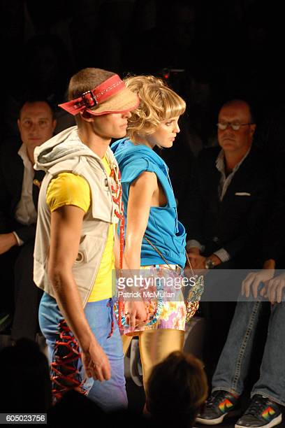 Mena Suvari and Runway attend HEATHERETTE Spring 2007 Fashion Show at The Tent at Bryant Park on September 12 2006 in New York City