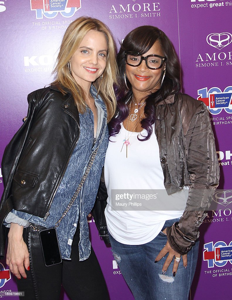 Mena Suvari and Simone I. Smith attend Amore by Simone I. Smith Collection Debut at Kohl's on October 26, 2013 in Los Angeles, California.