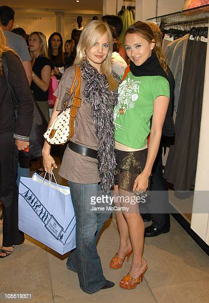 Mena Suvari and Stacey Bendet during Flirt! Makeup Launch Hosted by Hamptons and Gotham Magazine at Bergdorf Goodman in New York City, New York,...