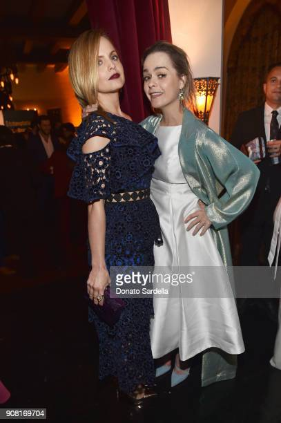 Mena Suvari and Taryn Manning attend Entertainment Weekly's Screen Actors Guild Award Nominees Celebration sponsored by Maybelline New York at...