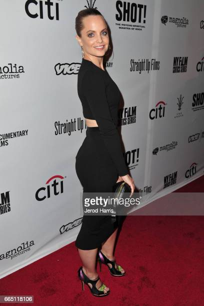 Mena Suvari arrives at the Premiere of 'SHOT The PsychoSpiritual Mantra of Rock' at Pacific Theatres at The Grove on April 5 2017 in Los Angeles...