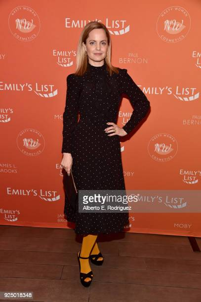 Mena Suvari attends EMILY's List PreOscars Brunch and Panel on February 27 2018 in Los Angeles California