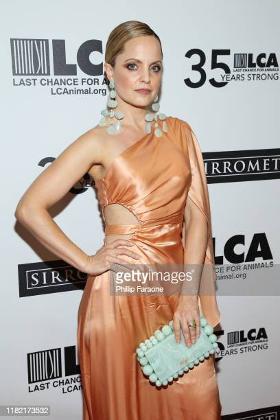 Mena Suvari attends Last Chance For Animals' 35th Anniversary Gala at The Beverly Hilton Hotel on October 19 2019 in Beverly Hills California