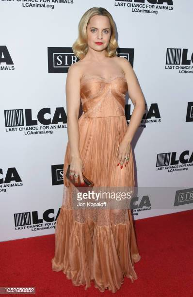Mena Suvari attends Last Chance For Animals' Hosts Annual Celebrity Benefit at The Beverly Hilton Hotel on October 20 2018 in Beverly Hills California