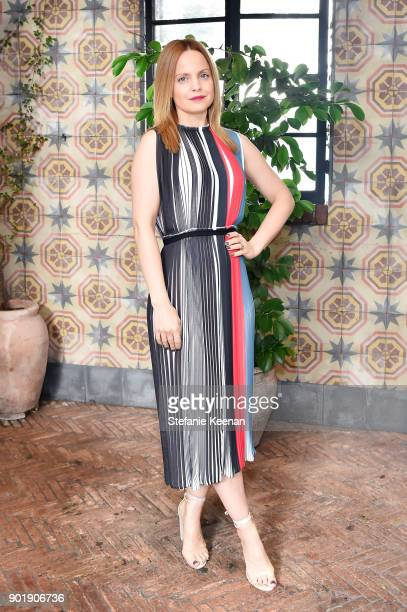 Mena Suvari attends Lynn Hirschberg Celebrates W Magazine's It Girls With Dior at AOC on January 6 2018 in Los Angeles California