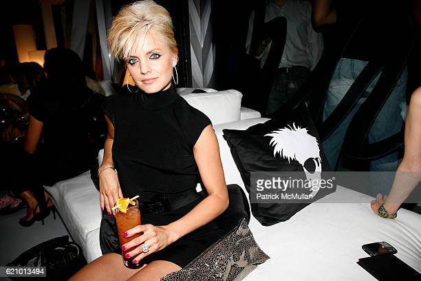 Mena Suvari attends MARTINI ROSSI and MENA SUVARI Toast Andy Warhol on the Anniversary of his 80th Birthday at New Museum on August 6 2008 in New...
