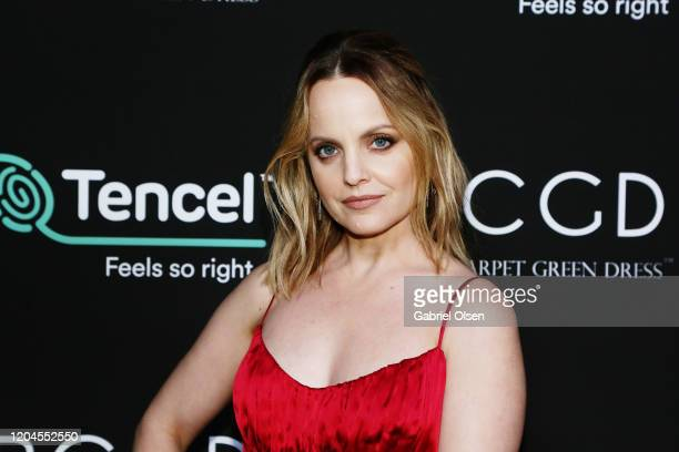 Mena Suvari attends Red Carpet Green Dress at the Private Residence of Jonas Tahlin CEO of Absolut Elyx on February 06 2020 in Los Angeles California