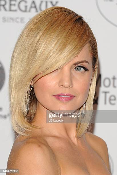 Mena Suvari attends the 100th anniversary celebration of the Beverly Hills Hotel Bungalows supporting the Motion Picture Television Fund and the...