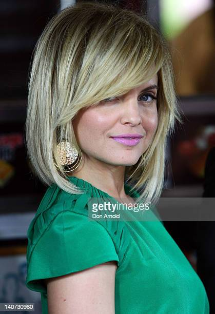 "Mena Suvari attends the ""American Pie: Reunion"" photo call outside Harry's Cafe de Wheels on March 6, 2012 in Sydney, Australia."