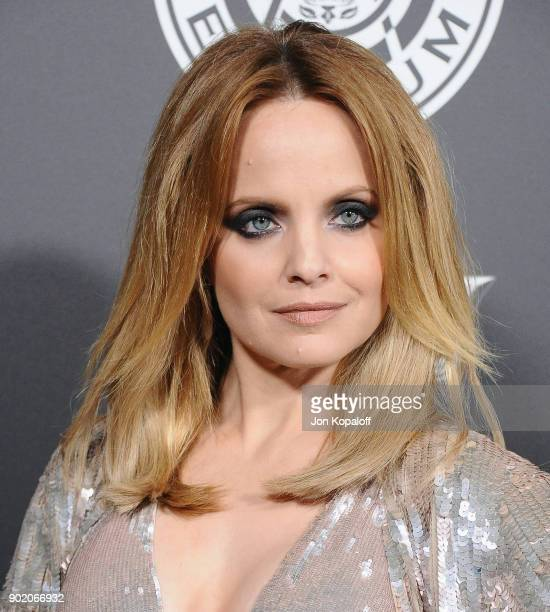 Mena Suvari attends The Art Of Elysium's 11th Annual Celebration Heaven at Barker Hangar on January 6 2018 in Santa Monica California
