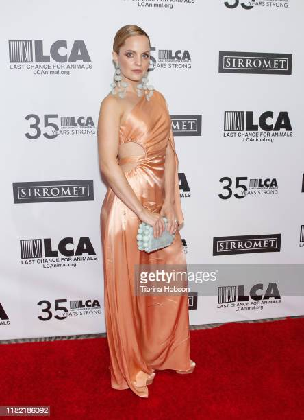 Mena Suvari attends the Last Chance for Animals' 35th anniversary gala at The Beverly Hilton Hotel on October 19 2019 in Beverly Hills California